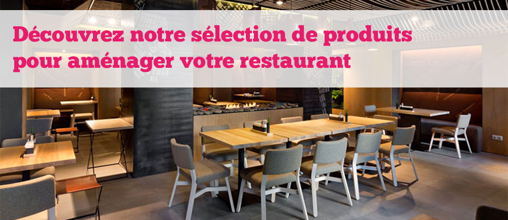 mobilier restaurant achat de meubles et deco pour restaurant et caf. Black Bedroom Furniture Sets. Home Design Ideas