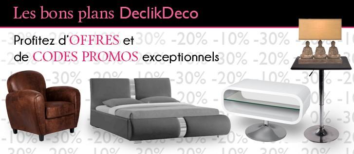 code promo declikdeco profitez de la deco design pas cher. Black Bedroom Furniture Sets. Home Design Ideas