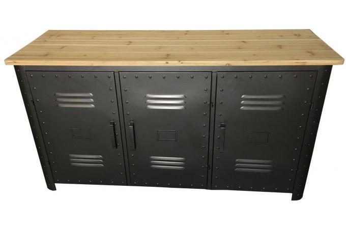 buffet en m tal 3 portes bafer buffet pas cher. Black Bedroom Furniture Sets. Home Design Ideas
