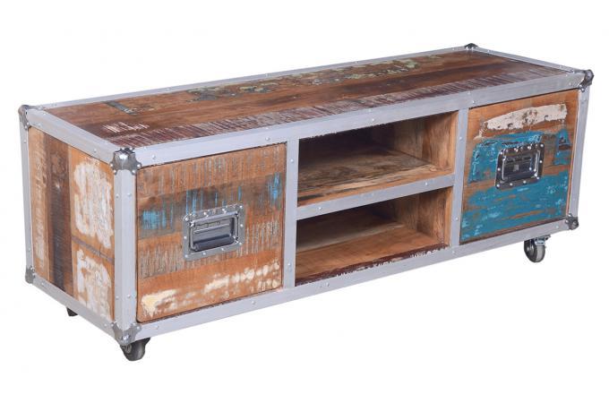 meuble tv sur roulettes cyane meuble tv pas cher. Black Bedroom Furniture Sets. Home Design Ideas