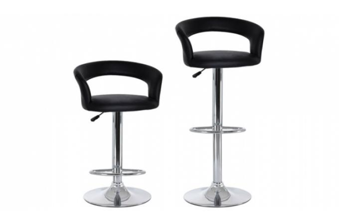 Promo : Lot de 2 tabourets de bar BUS Noir