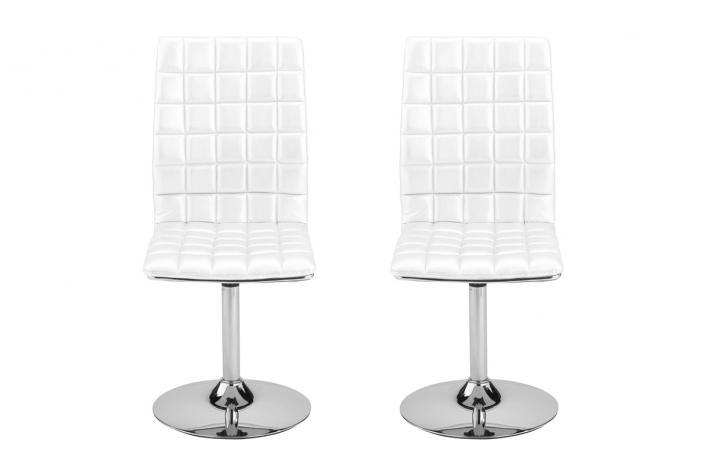 Promo : Lot de 2 chaises pivotantes KATE Blanc