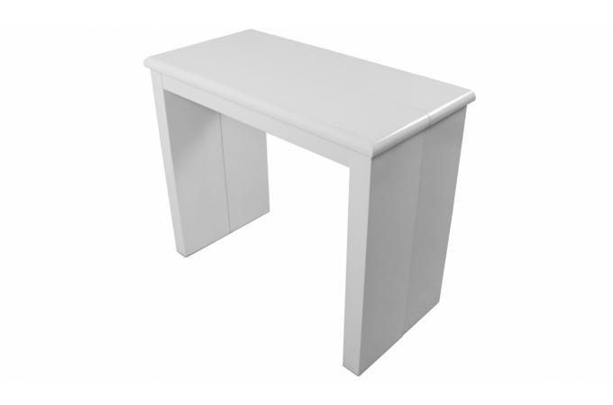 Console Extensible Blanche 195cm Laque Lydia Table Console Pas Cher