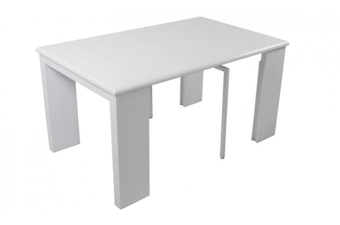 Console extensible but table console extensible laque for Table ronde extensible blanche