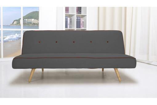 Banquette Convertible Anthracite MAEGAN - Canape convertible design
