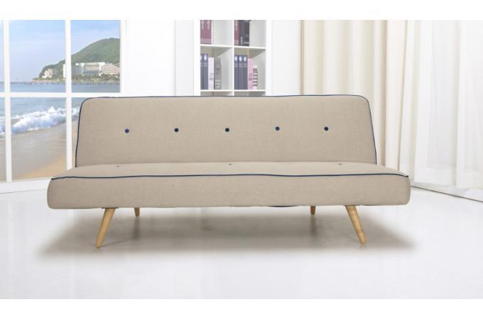 banquette convertible beige maegan canap convertible. Black Bedroom Furniture Sets. Home Design Ideas