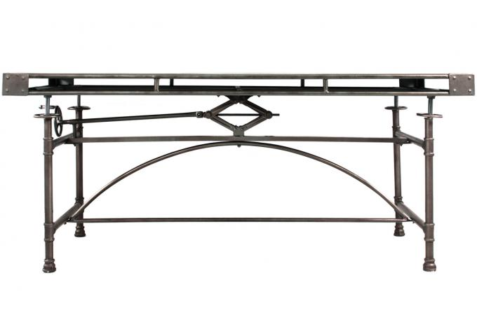 Table en m tal style industriel h80 seval table manger - Table style industriel pas cher ...