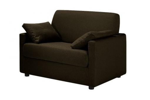 Fauteuil Convertible Tissu LUDIVINA Anthracite