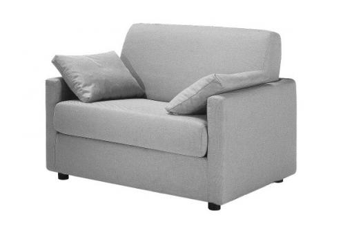 Fauteuil Convertible Tissu LUDIVINA Gris Clair