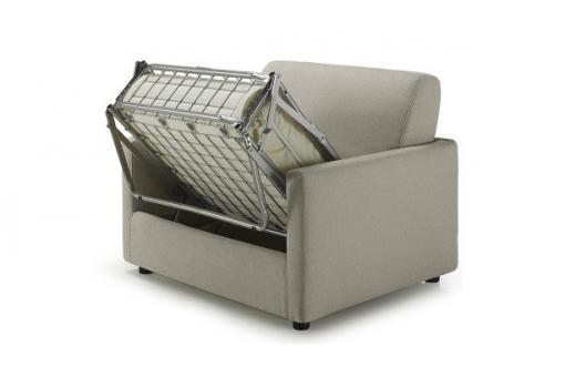 fauteuil convertible tissu ludivina - fauteuil design pas cher