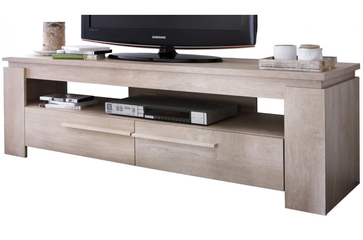 Meuble Tv Grande Taille meuble tv chêne clair anton plus d'infos