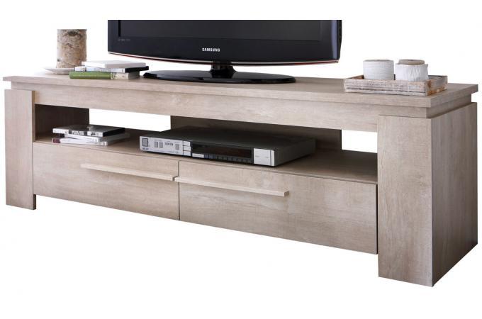 meuble tv ch ne clair anton meuble tv pas cher. Black Bedroom Furniture Sets. Home Design Ideas