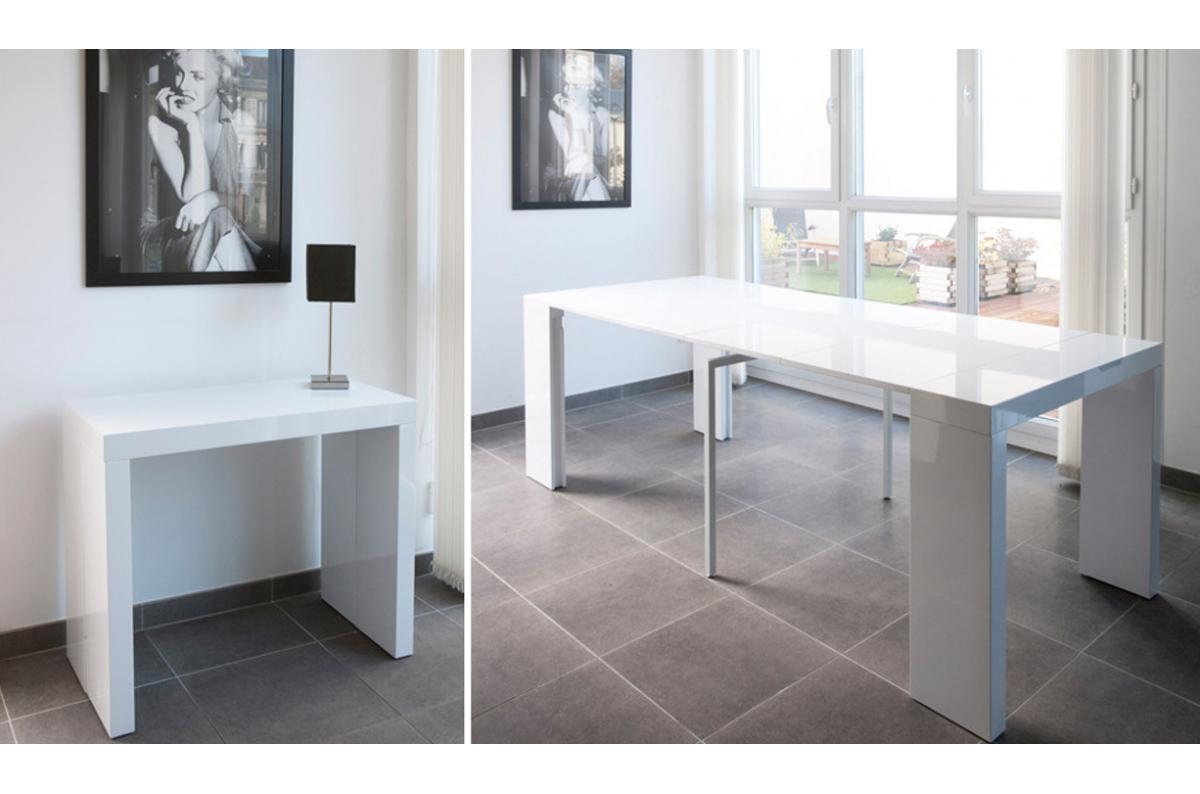 Objet Deco Laque Blanc console extensible 250cm blanc laque line-white 5/5 (2 avis)