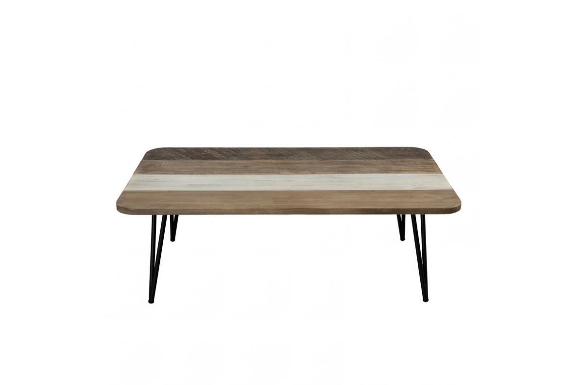 Table basse rectangulaire pieds épingle 5 x 5 cm style