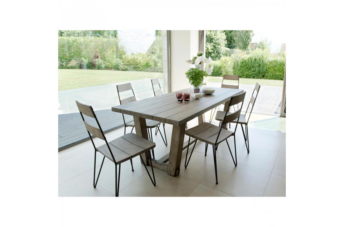 Ensemble Table Rectangulaire 6 Chaises Avec Pieds Epingle En