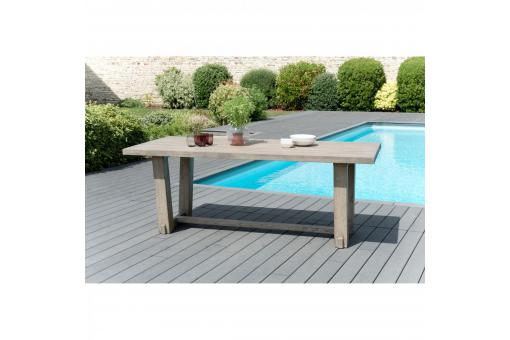 Table ? manger rectangulaire 4/6 personnes en teck massif - Table de jardin design