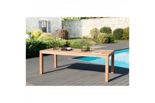 Table de jardin rectangulaire en teck massif VISTA - Table de jardin design