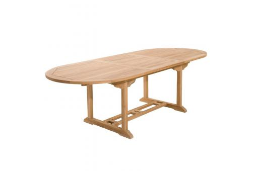 Table ovale extensible 8/10 personnes en teck massif - Table de jardin design