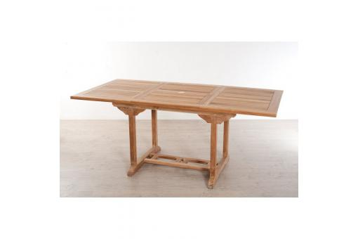 Table rectangulaire extensible 4/6 personnes en teck massif