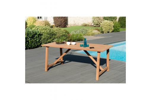 Table de jardin rectangulaire en teck massif SOHA - Table de jardin design