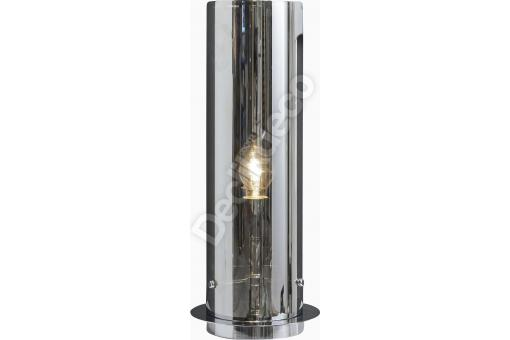 Lampe de table en tube chromé Gris Transparent