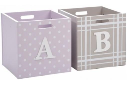 Pack 2 boites de rangement enfant en bois alphabet bo te - Systeme rangement cremaillere ...