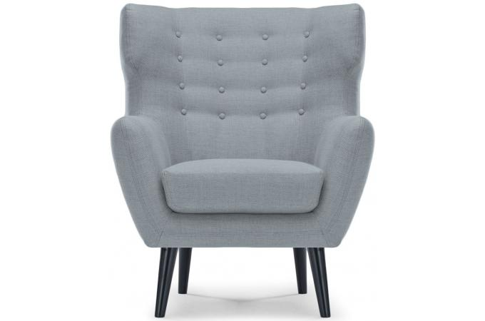 Fauteuil scandinave depalma tissu gris fauteuil design - Fauteuil design gris ...