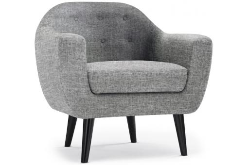 fauteuil scandinave fidelio tissu gris clair fauteuil. Black Bedroom Furniture Sets. Home Design Ideas