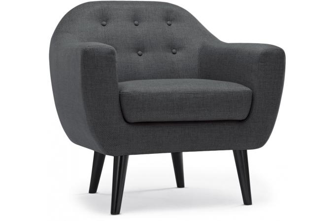 fauteuil scandinave fidelio tissu gris fonc fauteuil design pas cher. Black Bedroom Furniture Sets. Home Design Ideas