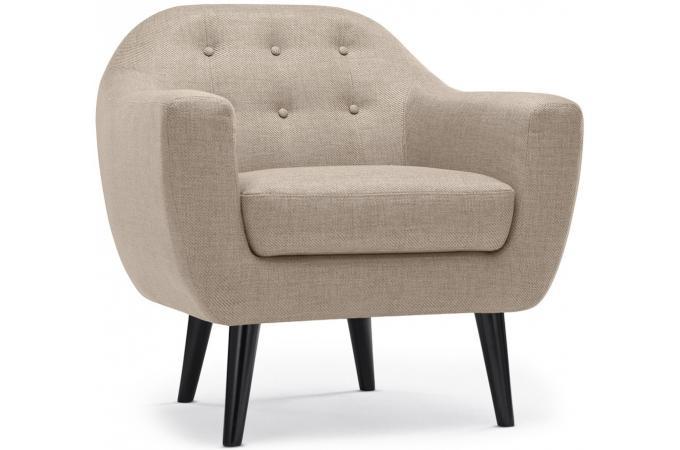 Fauteuil Scandinave Fidelio Tissu Beige Design