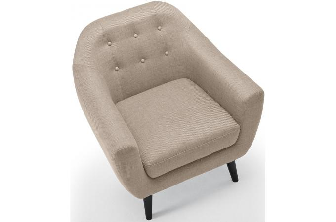 fauteuil scandinave fidelio tissu beige fauteuil design pas cher. Black Bedroom Furniture Sets. Home Design Ideas
