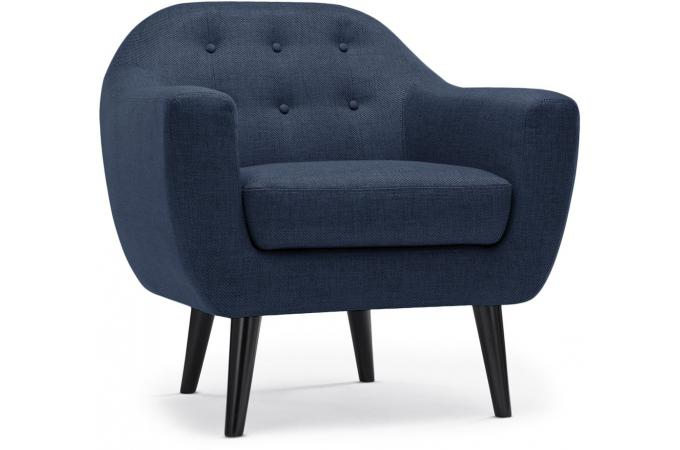 Fauteuil scandinave fidelio tissu bleu fauteuil design - Fauteuil design scandinave pas cher ...