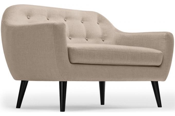 canap scandinave 2 places fidelio tissu beige canap 2 places pas cher. Black Bedroom Furniture Sets. Home Design Ideas