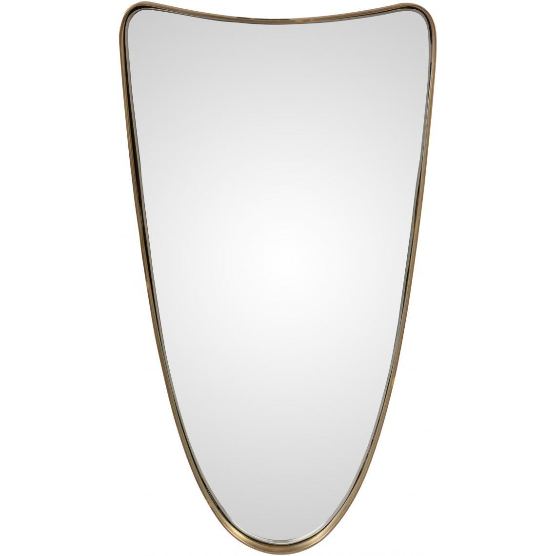 miroir design avec cadre en fer dore pamo