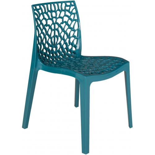 Chaise Design Bleu Turquoise GRUYER - Salle a manger moderne
