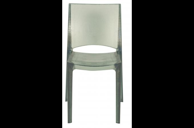 chaise design grise claire fum e transparente nilo chaise design pas cher. Black Bedroom Furniture Sets. Home Design Ideas