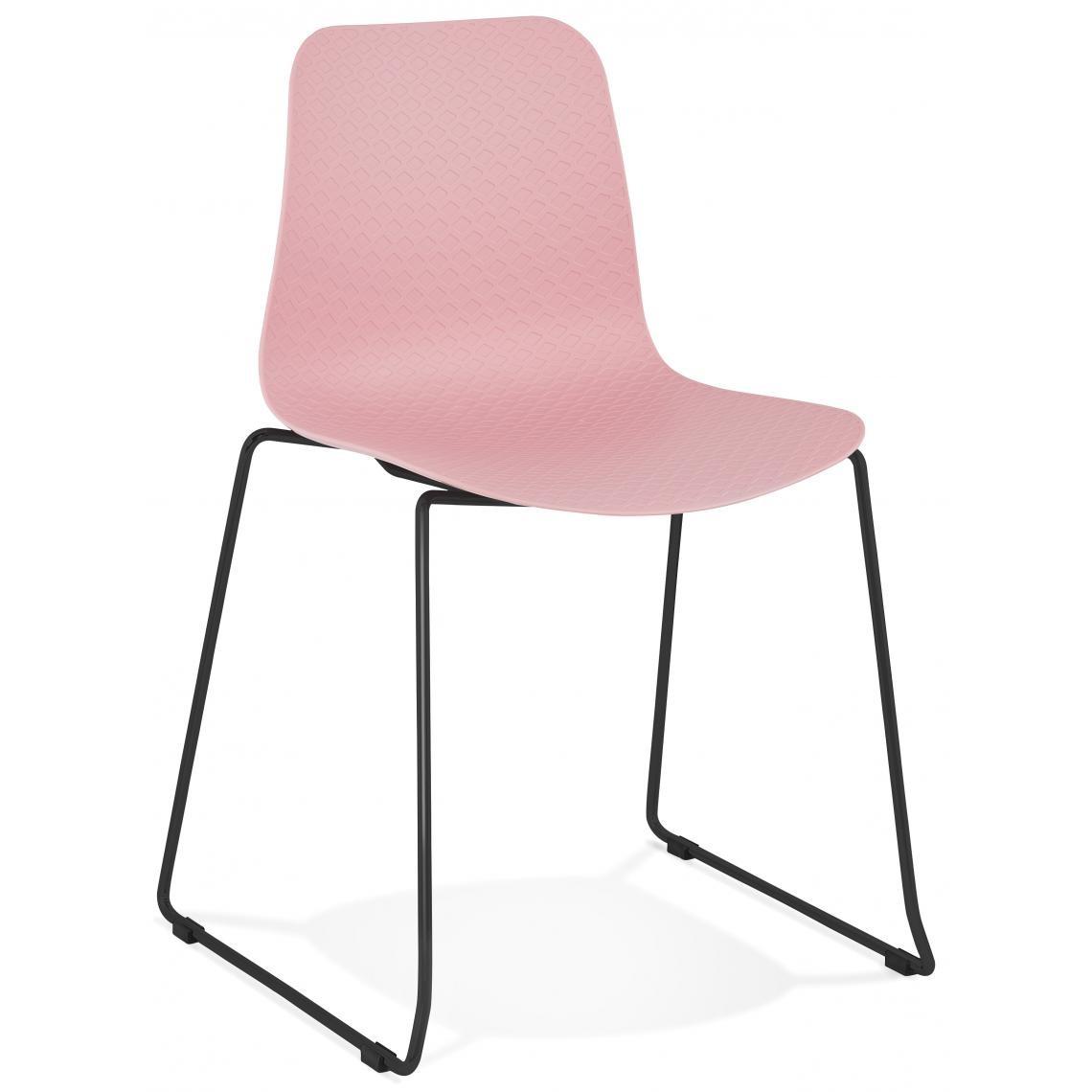 Chaise Design Piétement en Métal Noir TRAMER