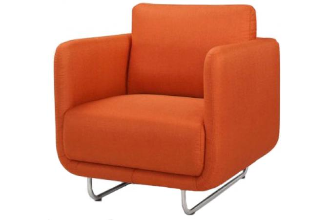 fauteuil june design orange pieds metal bross fauteuil design pas cher. Black Bedroom Furniture Sets. Home Design Ideas