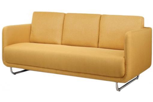 canap 3 places june design jaune pieds metal bross canap 3 places et plus pas cher. Black Bedroom Furniture Sets. Home Design Ideas