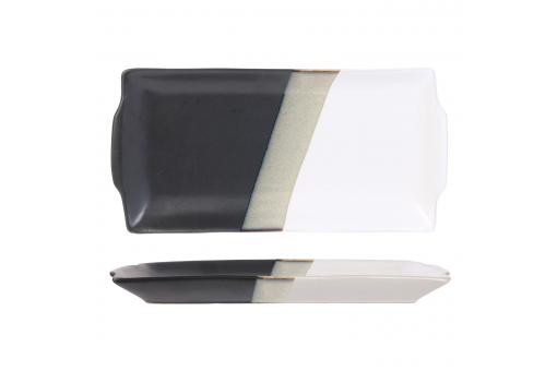 Plat a cake 30x15cm black and white DALEY - Corbeille & Plateau design