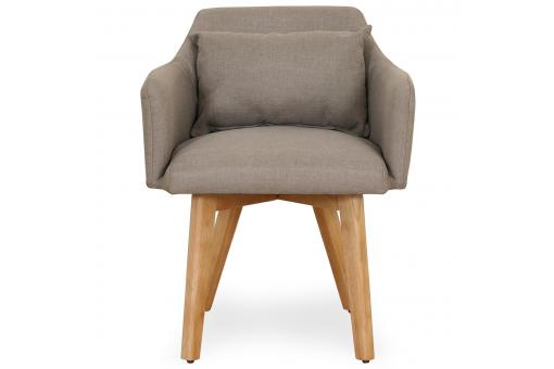 Fauteuil scandinave Tissu Taupe CHICKY - Fauteuil marron design