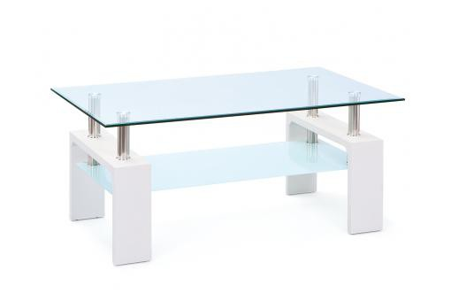 Table basse 2 plateauxVerre Securit et Métal UVEG - Table basse design
