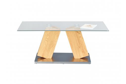 Table Basse en Verre et Acier SALYA - Table basse design