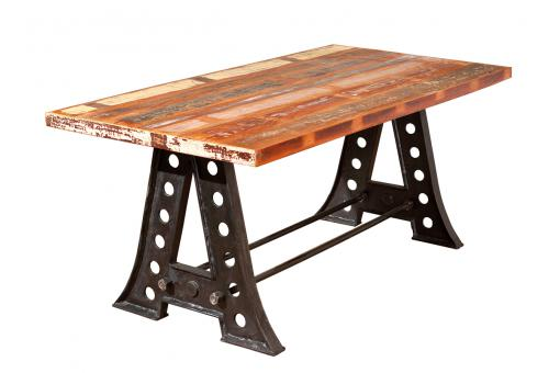 Dessus de table Bois massif Manguier Multicolore FEJEL - Table design