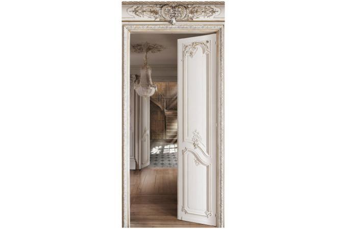 rev tement mural en velours perspective sur escalier ancien papier peint trompe l 39 oeil pas cher. Black Bedroom Furniture Sets. Home Design Ideas
