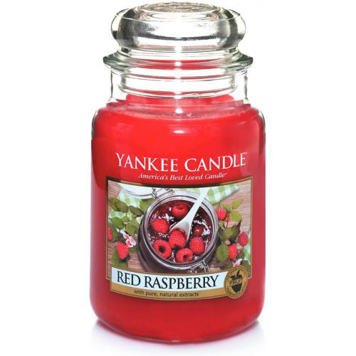 Bougie Grand Modèle Red Raspberry/ Framboise Rouge - Yankee candle bougie deco