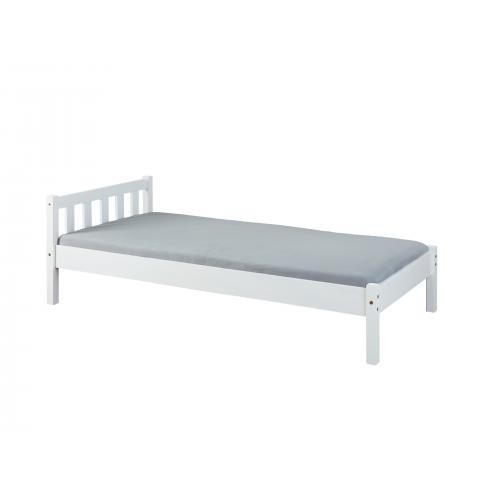 Lit simple  90x200 blanc VILMAR - Promotions Declikdeco