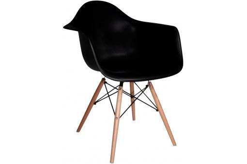 chaise d co scandinave avec accoudoir noire lagoon. Black Bedroom Furniture Sets. Home Design Ideas