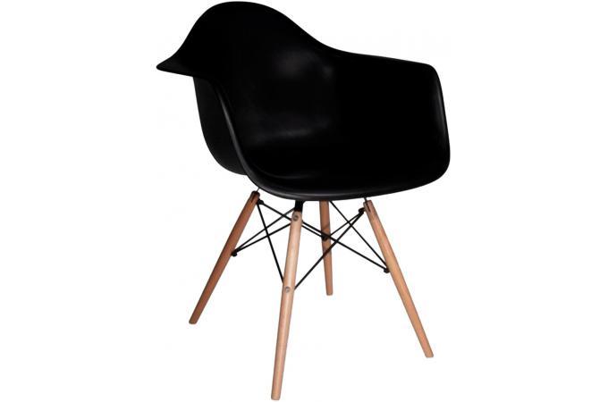 chaise d co scandinave avec accoudoir noire lagoon chaise design pas cher. Black Bedroom Furniture Sets. Home Design Ideas