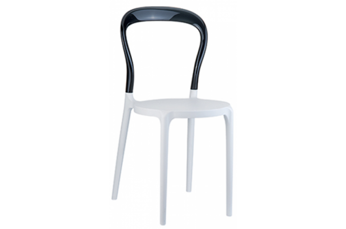 Chaise design noire et blanche elegant chaise design pas - Chaise design transparente polycarbonate ...
